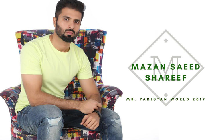 Mazan Saeed Shareef is the newly elected Mr. Pakistan World for the year 2019.